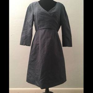 J Crew Lilabeth silk dress in caspian blue